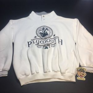 Vintage Plymouth Nautical Mockneck Sweatshirt